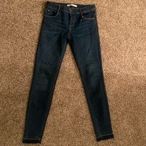 Zara Raw Hem Skinny Jeans
